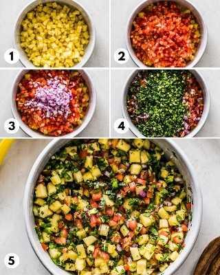 Fotos paso a paso de cómo hacer salsa de piña.