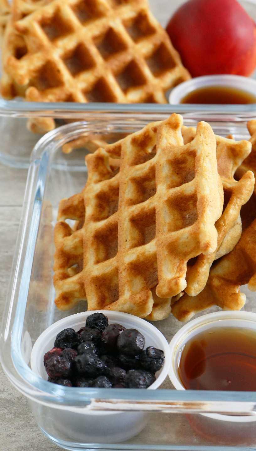 wafles de avena sin gluten fáciles y saludables
