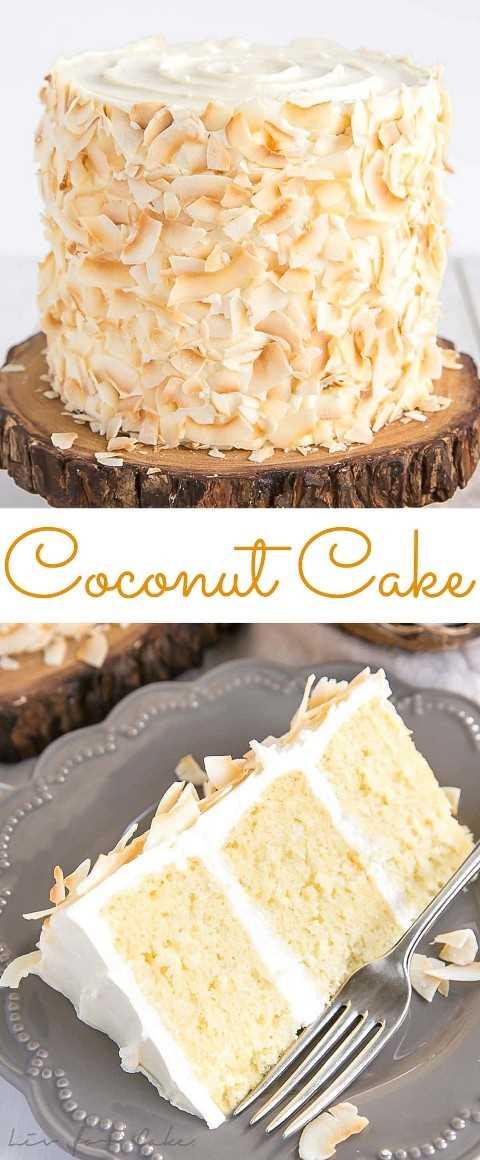 Receta de pastel de coco hecha con leche de coco, leche de coco en polvo y hojuelas de coco tostadas.