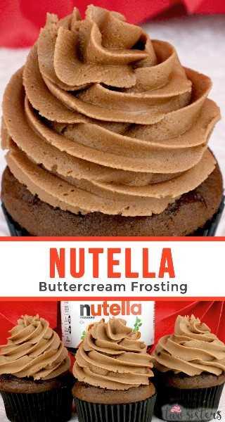 Nutella Buttercream Frosting: glaseado cremoso de crema de mantequilla con el sabor de tu avellana favorita. Amantes de Nutella, ¡esta receta casera de glaseado es para ti! Es súper delicioso y muy fácil de hacer. Dulce, cremoso, chocolate y muy rico, tu familia te rogará que hagas esta Nutella Frosting una y otra vez. ¡Pincha esta receta de glaseado para más tarde y síguenos para obtener más recetas de glaseado! #Frosting #NutellaFrosting #ButtercreamFrosting #Nutella