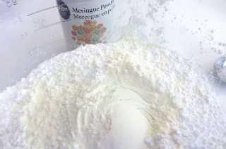 Mezclar el azúcar en polvo con Merangue en polvo