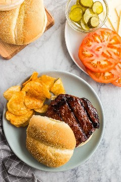 hamburguesas de pavo por encima