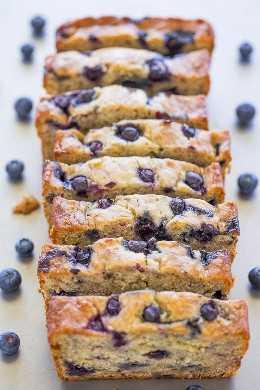 Blueberry Banana Zucchini Bread - ¡¡El pan de banana se mejoró con las jugosas BLUEBERRIES en cada bocado !! El calabacín (no puedes probarlo) lo mantiene húmedo y ¡SANO! Fácil y delicioso!