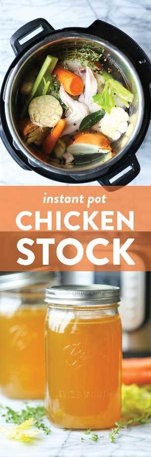 Caldo de galinha instantâneo - Agora você pode fazer o melhor caldo de galinha caseiro em apenas 45 minutos! Congele por até 3 meses. Perfeito para ensopados, sopas e molhos!