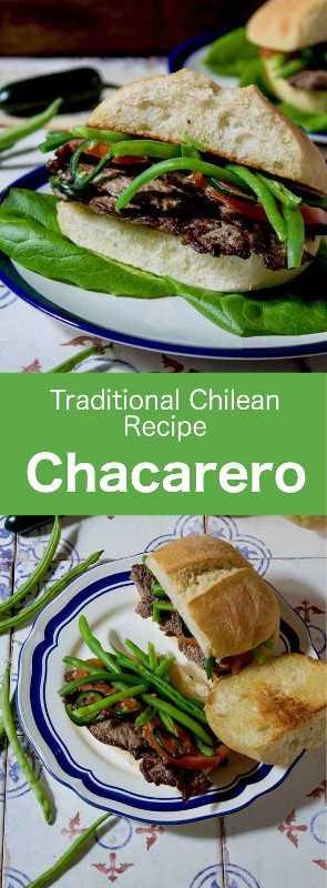 El chacarero es un sándwich chileno tradicional hecho de solomillo de ternera en rodajas finas. Está elaborado con pan de marraqueta, tomates y judías verdes. #Chile #ChileanCuisine #ChileanRecipe #ChileanFood #WorldCuisine # 196flavors