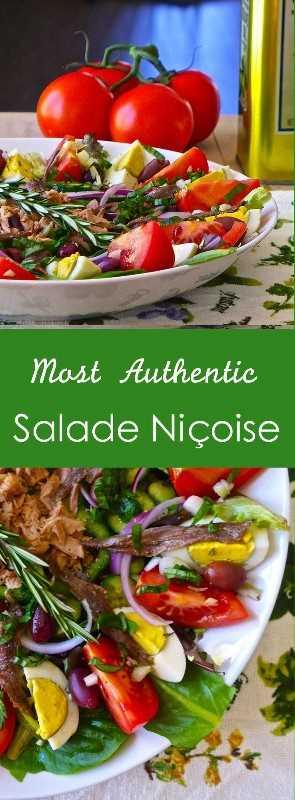 A receita tradicional da salada Niçoise inclui tomate, ovos cozidos, cebolinha, azeitonas pretas e atum em conserva ou anchovas.