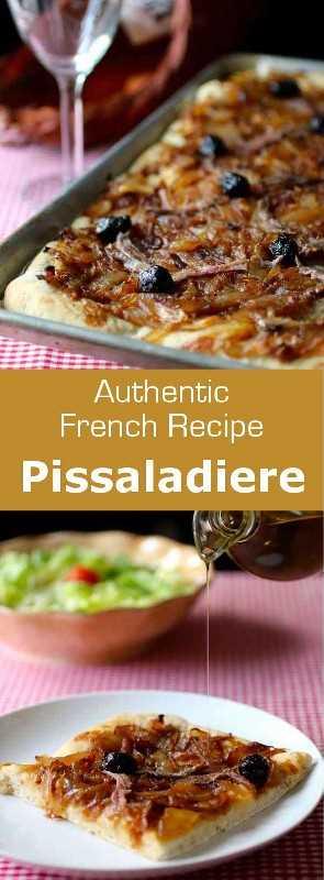Pissaladiere, un pan plano en el sur de Francia, es una gran idea de receta para los picnics de verano, ya que se puede comer caliente, frío que tibio. #Francia #Nice #Provence # 196flavors