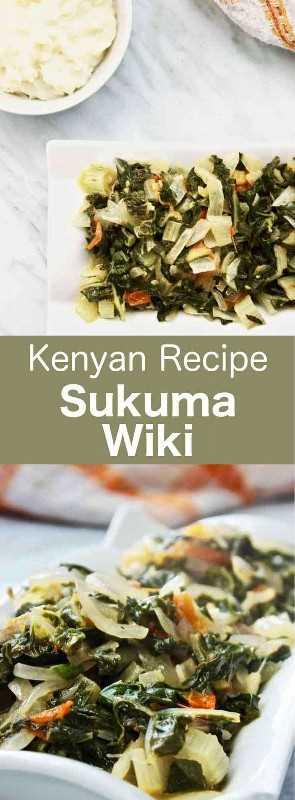 Sukuma wiki es un plato tradicional de Kenia que se prepara con berza, tomate y cebolla y se sirve típicamente con ugali. #Kenya #KenyanCuisine #Africa #AfricanCuisine #WorldCuisine # 196flavors