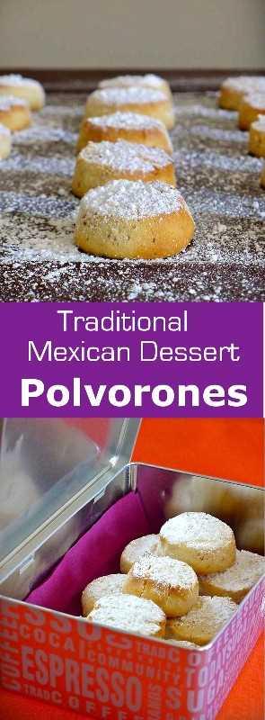 Los polvorones toman su nombre de la palabra española polvo que se traduce en polvo. Fueron introducidos en México por los colonos españoles. #dessert #cookie #Mexico # 196flavors
