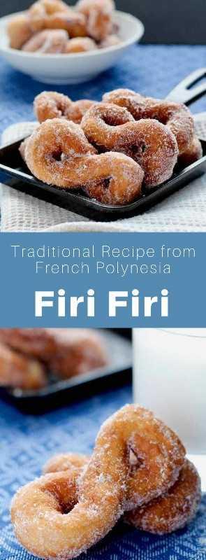 Firi Firi es un donut a base de coco. Es una especialidad de la Polinesia Francesa que se sirve en un desayuno tradicional, especialmente en Tahití. #Polynesia #FrenchPolynesia #PolynesianRecipe #PolynesianCuisine #PolynesianFood #WorldCuisine # 196flavors