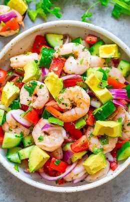 Ceviche de camarão - A maneira mais fácil de fazer ceviche de camarão tradicional e é melhor! Pronto em 30 minutos, excelente como aperitivo, acompanhamento ou saudável que todos AMAM!