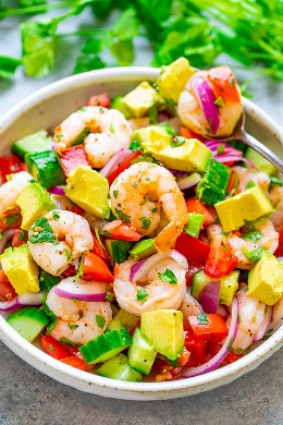 Ceviche de camarón - ¡La forma MÁS FÁCIL de hacer ceviche de camarón tradicional y sabe mejor! ¡Listo en 30 minutos, excelente como aperitivo, acompañante o como un plato saludable que a todos les ENCANTA!