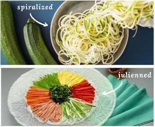 Espirales vs verduras en juliana