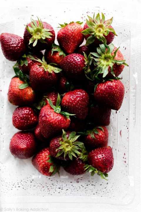 fresas frescas lavadas