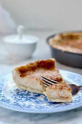 pastel de crema de azúcar tradicional
