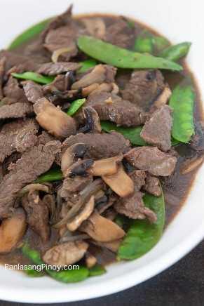 Carne Asiática Con Champiñones