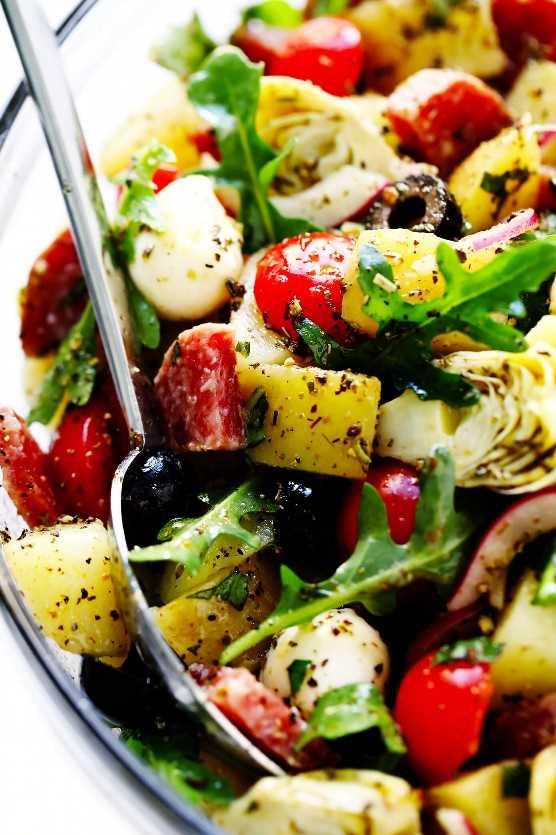 La mejor receta de ensalada de papa italiana