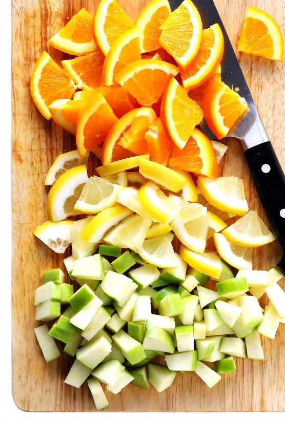 Fruta fresca para la auténtica sangría española.