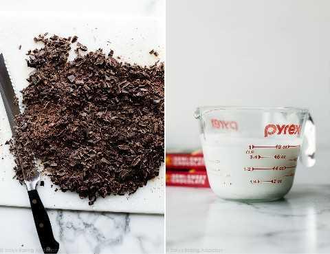 chocolate y crema