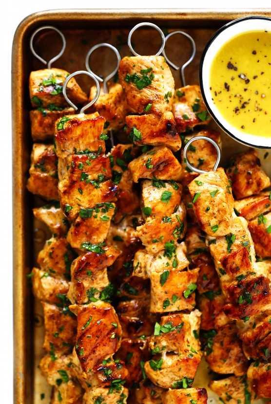 Receta de kabobs de pollo