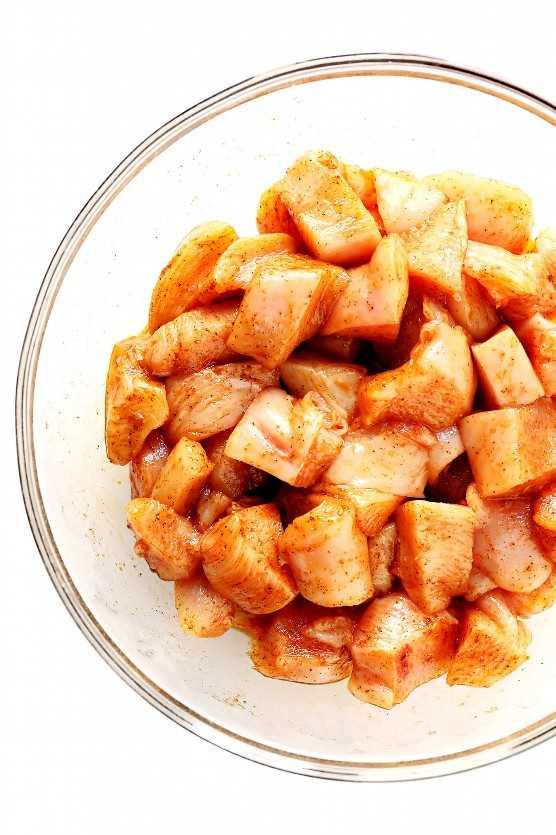 Ingredientes de Kabob de pollo
