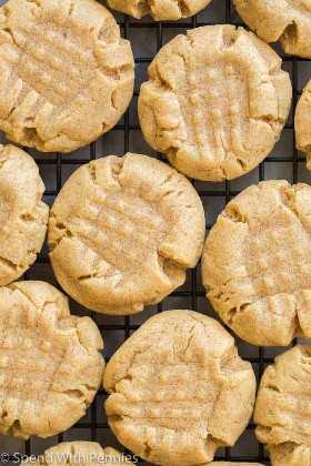 cerrar galletas de mantequilla de maní