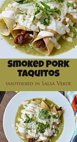 Prepare estos deliciosos taquitos de cerdo ahumado para el almuerzo o cualquier otra comida. Son deliciosos, fáciles de hacer y se terminan con una increíble salsa verde hecha en casa.