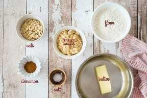 Ingredientes para hacer migas, con etiquetas de texto.