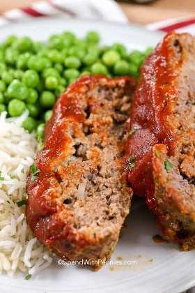 Pastel de carne fácil de mi receta favorita de pastel de carne con verduras y arroz
