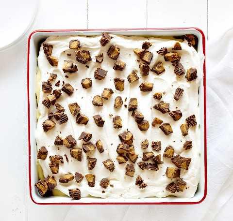 Pan de postre de galleta de mantequilla de maní