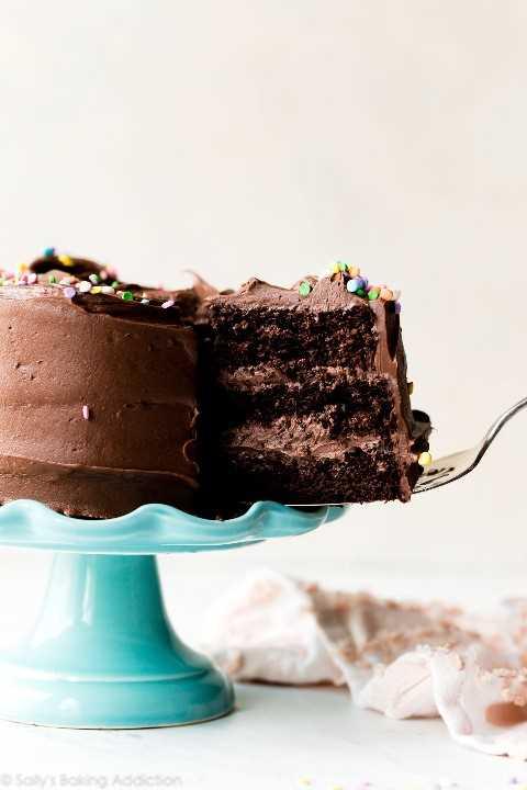 Pastel de chocolate de 6 pulgadas