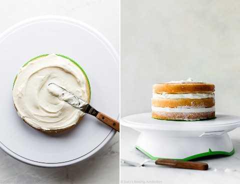 Torta de 6 pulgadas en tornero de pastel
