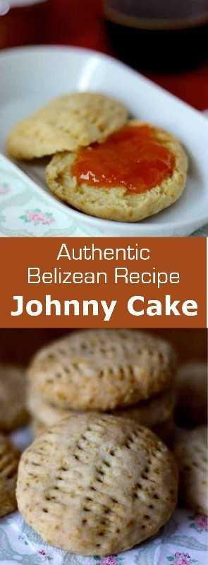 Johnny Cake es para Belice lo que croissant es para Francia, el delicioso y delicioso bollo de un desayuno tradicional. #Belize #Caribe #bread # 196flavors