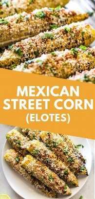 Mexican Street ¡Maíz en la mazorca cubierto de mayonesa cremosa y cubierto con cilantro, jugo de limón, queso Cotija y chile en polvo es el acompañamiento perfecto para el verano mexicano! #corazón #mexican