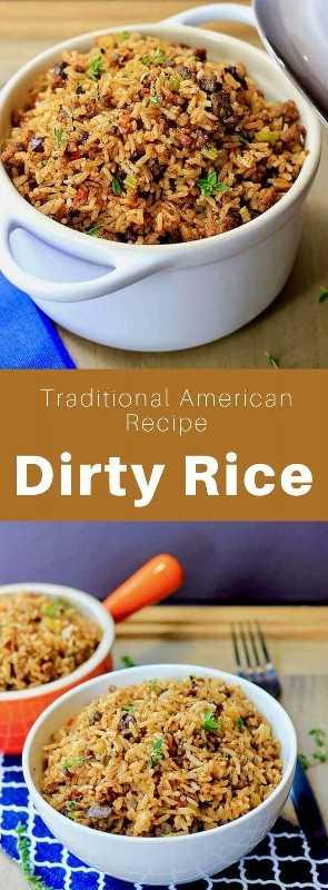 El arroz sucio es un plato criollo popular en el sur de Louisiana que se prepara con arroz, carne de res picada, cerdo y hígado de pollo. #SouthernFood #SouthernRecipe #SouthernCuisine #AmericanRecipe #AmericanFood #AmericanCuisine #WorldCuisine # 196flavors