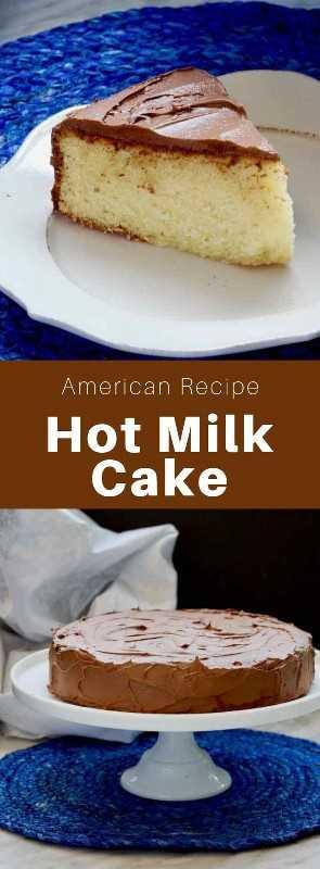 El pastel de leche caliente es un delicioso pastel tradicional de la región del Atlántico medio de los Estados Unidos, que está cubierto con moca glas. #AmericanRecipe #AmericanFood #AmericanCuisine #WorldCuisine # 196flavors
