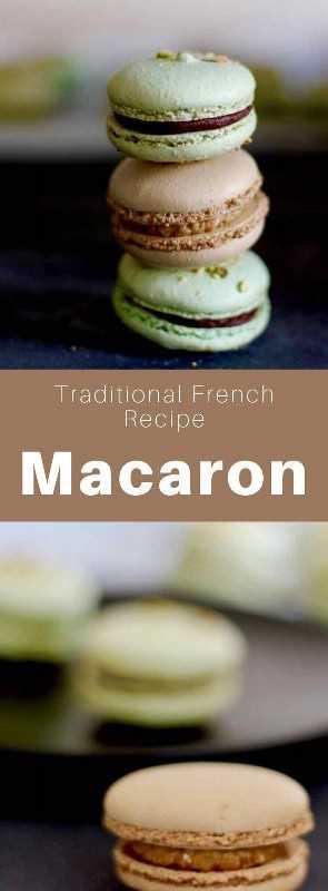Macaron, también conocido como macaron parisino, es una deliciosa galleta redonda a base de almendra, que es un pilar de la pastelería francesa. #French #FrenchRecipe #FrenchCuisine #Macaron #Cookie #FrenchCookie #WorldCuisine # 196flavors