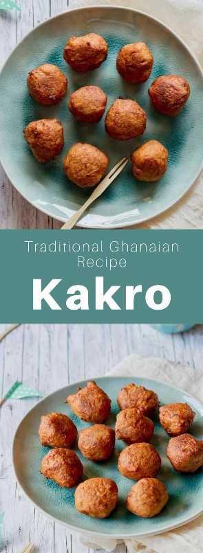 Kakro (o kaklo) es un delicioso bocadillo frito tradicional de Ghana que se prepara con plátanos muy maduros y con especias. #Ghana #GhanaianCuisine #GhanaianFood #GhanaianRecipe #AfricanCuisine #AfricanFood #AfricanRecipe #WorldCuisine # 196flavors