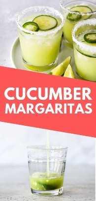 Margaritas de pepino feitas com apenas 5 ingredientes: pepino, suco de limão, tequila, triple sec e gelo. Eles são refrescantes, leves e fáceis de fazer. #receitas #receitas #receitas #receitas