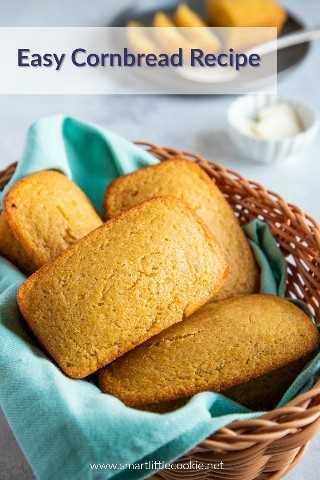 La mejor receta fácil de pan de maíz. - Pequeña galleta inteligente