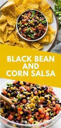 ¡Una receta fácil, brillante y fresca de Salsa de Frijol Negro y Maíz que toma solo 15 minutos! Es el aperitivo perfecto para la próxima fiesta y es un excelente acompañamiento. (sin gluten, vegetariano, vegano) #salsa #mexican #appetizer