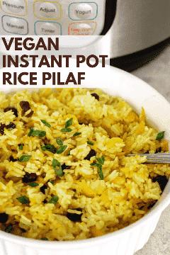arroz instantâneo vegan arroz pilaf pinterest gráfico
