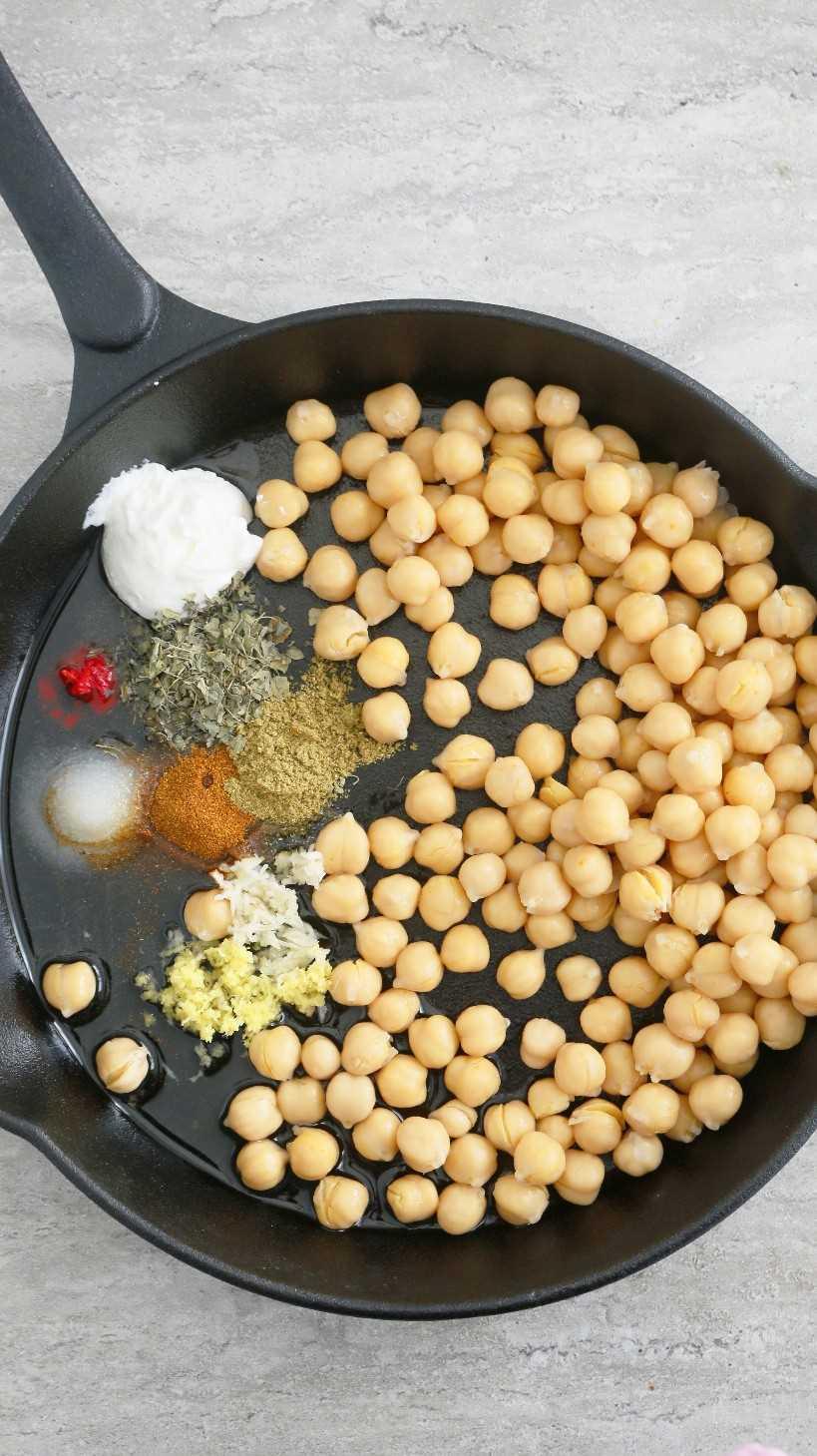 garbanzos asados picantes indios
