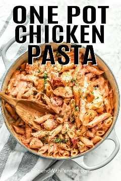 Descripción general de One Pot Chicken Pasta.