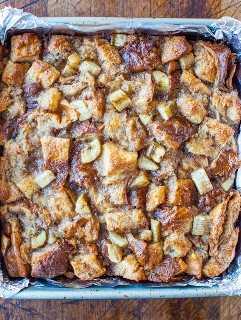 Pan hawaiano y arce Banana tostada francesa horneada averiecooks.com