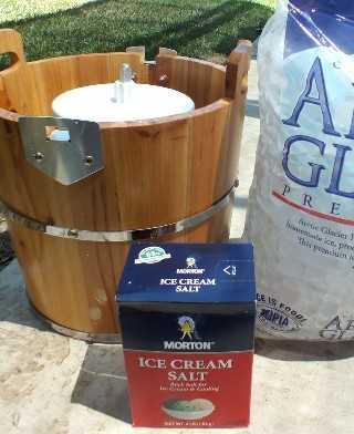 Ingredientes para batir el helado