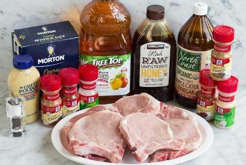 Ingredientes de chuleta de cerdo a la parrilla