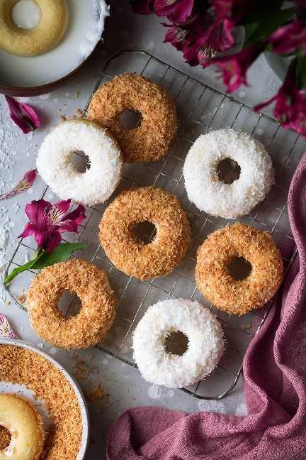 Rosquillas de coco al horno