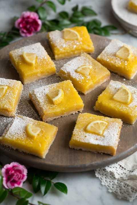 La mejor receta de barras de limón