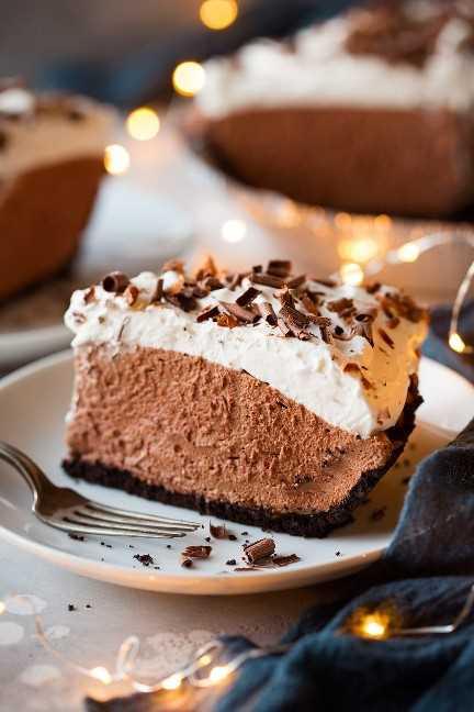 Pastel de mousse de chocolate fácil